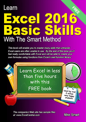 Front Cover - Learn Excel 2016 Basic Skills with The Smart Method