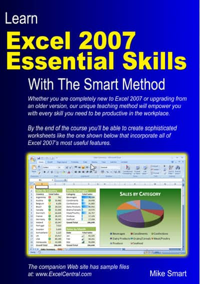 Book Cover - Learn Excel 2007 Essential Skills with The Smart Method