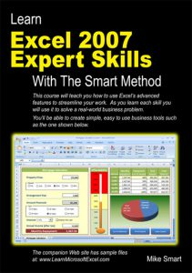 Book Cover - Learn Excel 2007 Expert Skills with The Smart Method