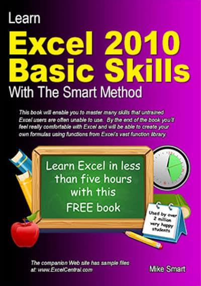 Book Cover - Learn Excel 2010 Basic Skills with The Smart Method