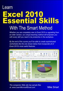 Book Cover - Learn Excel 2010 Essential Skills with The Smart Method