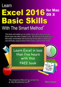 Book Cover - Learn Excel 2016 Basic Skills for Apple Mac with The Smart Method