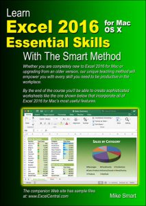 Book Cover - Learn Excel 2016 Essential Skills for Apple Mac with The Smart Method