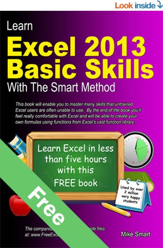 Book Cover - Learn Excel 2013 Basic Skills with The Smart Method