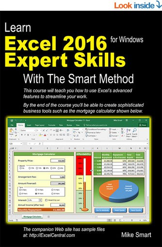 Learn Excel 2016 Expert Skills with The Smart Method - Front Book Cover