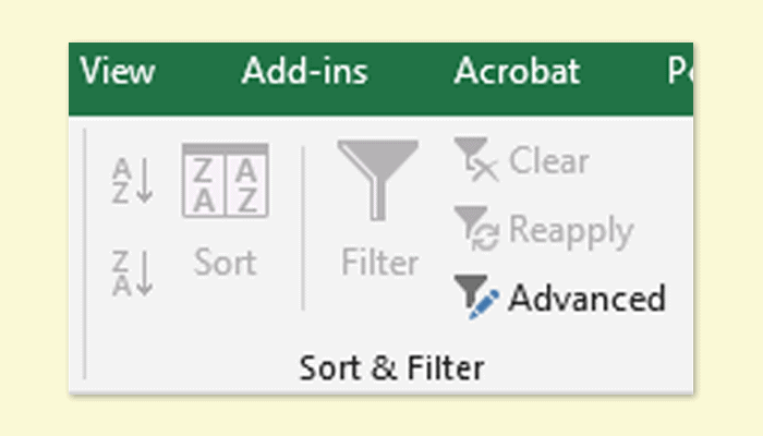 Why are the sort and filter options grayed out