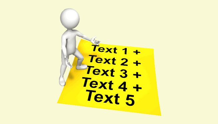 Adding + between words in strings