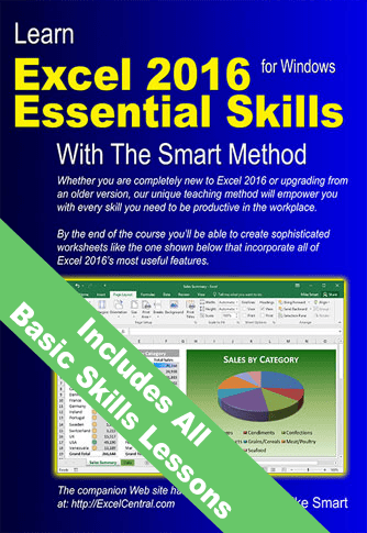 Learn Excel 2016 Essential Skills with The Smart Method -