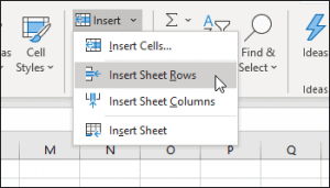Inserting rows and columns in pivot tables