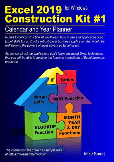 Excel 2019 Construction Kit #1: Calendar and Year Planner - sample files