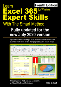Learn Excel 365 Expert Skills with The Smart Method (fourth edition) - Front cover