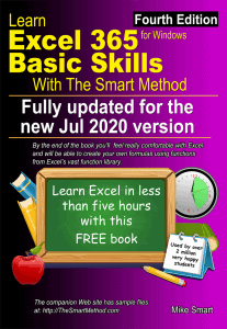 Learn Excel 365 Basic Skills with The Smart Method (fourth edition) FREE e-book