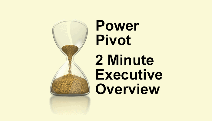 Power Pivot - 2 Minute Executive Overview