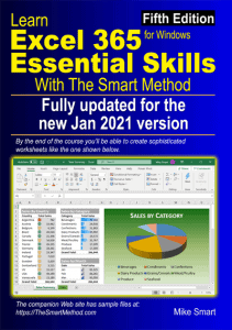 Learn Excel 365 Essential Skills with The Smart Method (fifth edition) - Front cover