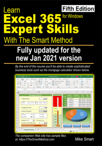 Learn Excel 365 Expert Skills with The Smart Method (fifth edition) - Front cover