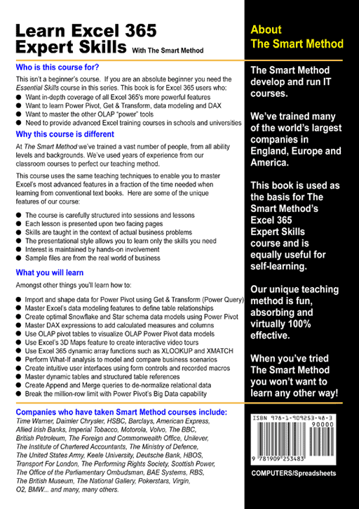 Excel-365-Expert-Skills-fifth-edition-rear-cover