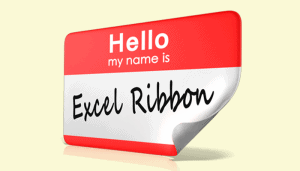 Identify Excel screen element names