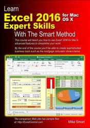 Book Cover - Learn Excel 2016 Expert Skills for Apple Mac with The Smart Method
