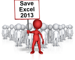 Save Excel 2013 protestor with banner